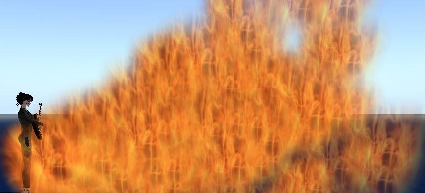 Flames Erupt